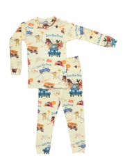 Blue/ Yellow Books To Bed Little Blue Truck Pajama Set