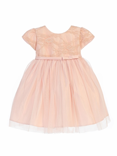 Blush Lace Ballerina Dress