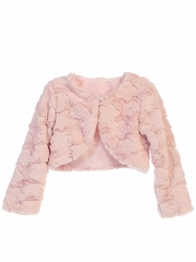 Blush Pink Cloud Fur Jacket