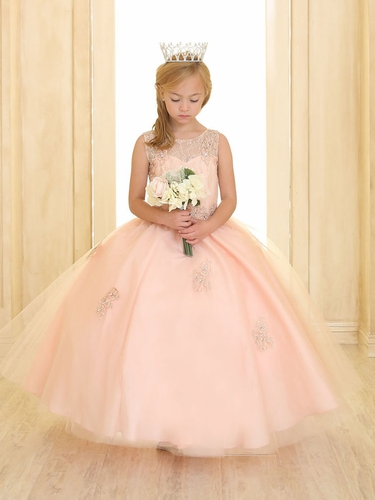 Blush Pink Sweetheart Lace & Tulle Gown