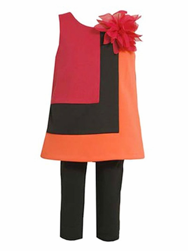 Bonnie Jean Color Block Dress Set
