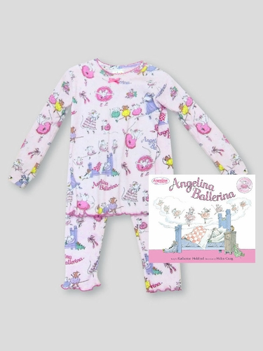 Books to Bed Angelina Ballerina w/ Matching Pink Pajama Set