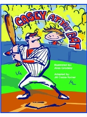 Books to Bed Casey At Bat w/ Matching Blue Short Sleeve Pajama
