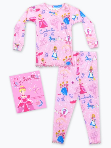 Books to Bed Cinderella w/ Matching Pink Pajama Set