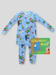 Books to Bed Goodnight Moon w/ Matching Blue Pajama Set