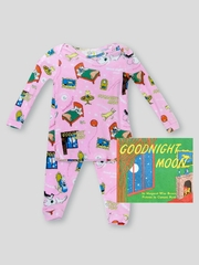 Books to Bed Goodnight Moon w/ Matching Pink Pajama Set