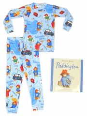 Books to Bed Paddington w/ Matching Blue Pajama Set