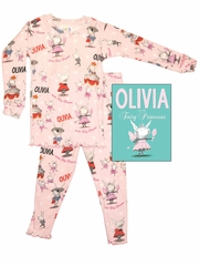 Books to Bed Pink Olivia w/ Bag & Ribbon Set