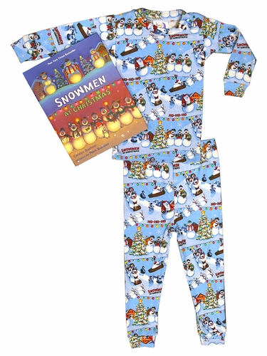 Books to Bed Snowmen at Christmas Bag Set