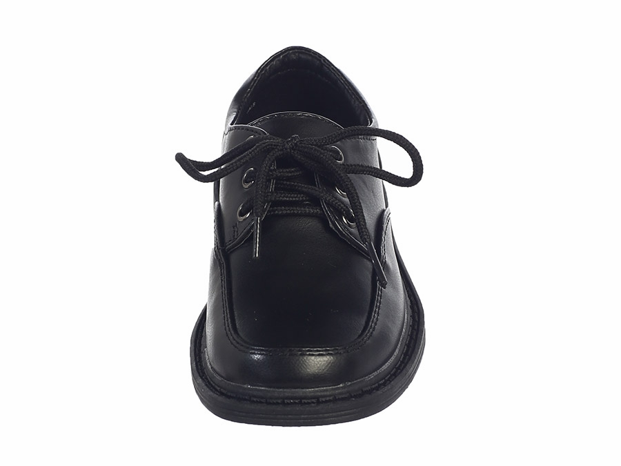 Boys Black Lace Up Matte Dress Shoes