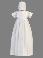 Boys Christening 2 Piece Poly Shantung Gown