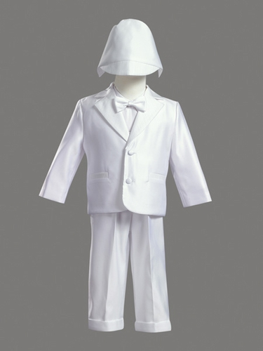 Boys Christening 5 Piece Satin Tuxedo