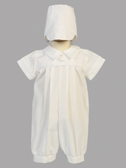 Boys Christening Romper w/ Hat
