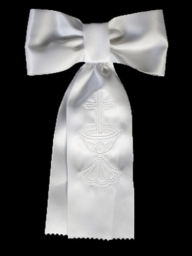 Boys Communion Arm Band w/ Embroidered Cross & Chalice