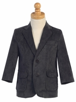 Boys Dark Gray Corduroy Jacket
