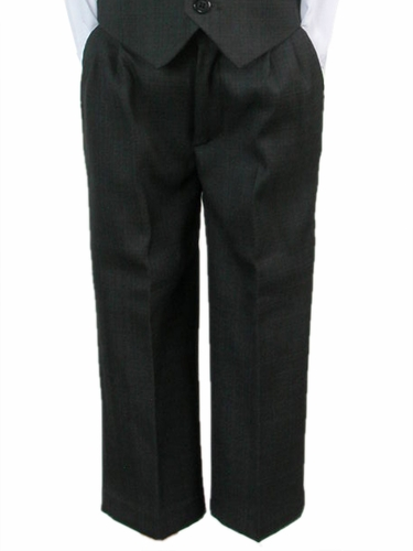 Boys Dark Grey Dress Pants