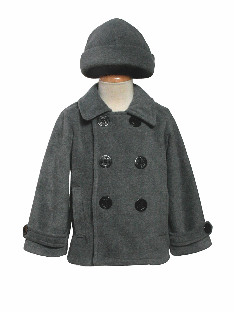 Grey Fleece Peacoat