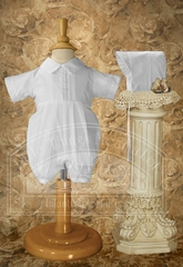 Boys Polycotton Romper with Pin Tucking