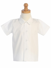 Boys White Short Sleeve Dress Shirt