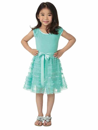 Candy Bean Couture Mint Mesh Sequin Sparkle Dress