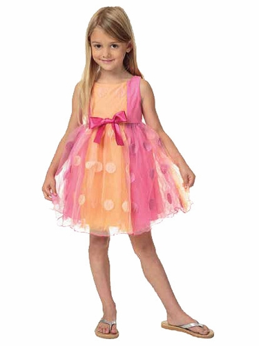Candy Bean Couture Sherbet Dot Pink Dress