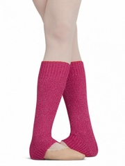 "Capezio 12"" Child Hot Pink Metallic Sheen Legwarmers"