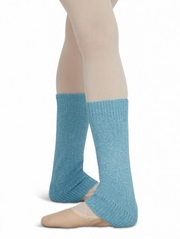 "Capezio 12"" Child Light Blue Metallic Sheen Legwarmers"