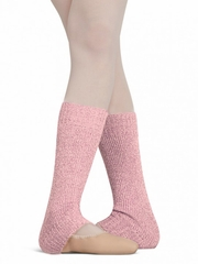 "Capezio 12"" Child Light Pink Metallic Sheen Legwarmers"