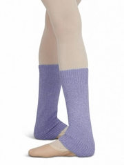 "Capezio 12"" Child Lilac Metallic Sheen Legwarmers"