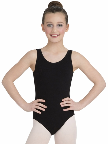 Capezio Child Black High-Neck Tank Leotard