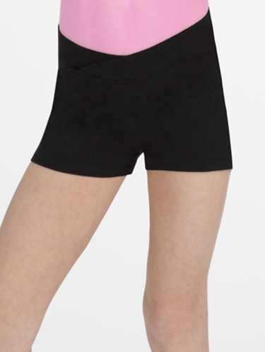 Capezio Child Black Short Appliqué