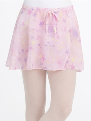 Capezio Child Celestial Pink Print Pull On Skirt