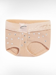 Capezio Child Nude Rhinestone footUndeez