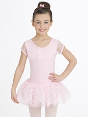 Capezio Child Pink Flower Cap Sleeve Tutu Dress