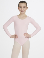 Capezio Child Pink Long Sleeve Leotard