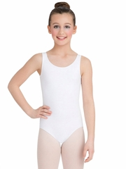 Capezio Child White High-Neck Tank Leotard