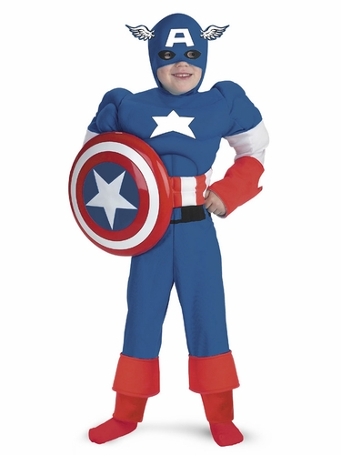 Captain America Classic Muscle Boys Costume