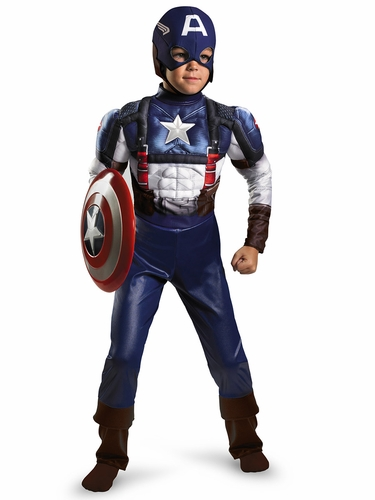 Captain America Retro Muscle Classic Costume