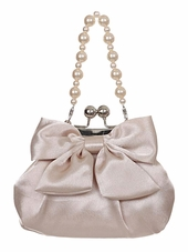 Champagne Pearl Bow Purse