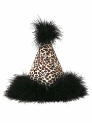 Cheetah Print Felt Birthday Party Hat