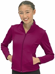 ChloeNoel Berry Textured Polar Fleece Jacket w/ Pockets