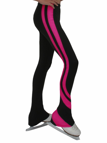 ChloeNoel Black & Fuchsia Swirls Pants