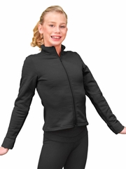ChloeNoel Black Polar Fleece Fitted Jacket