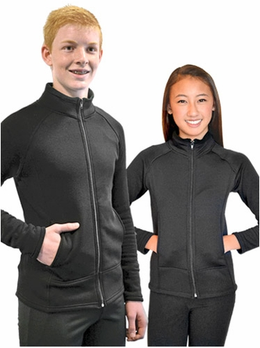 ChloeNoel Black Polar Fleece Unisex Jacket w/ Pocket