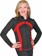 ChloeNoel Black/Red Stripe Princess Seam Jacket