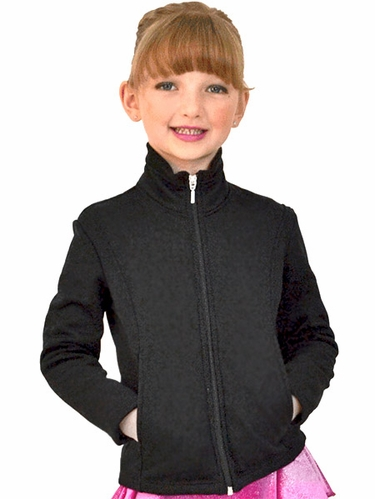 ChloeNoel Black Textured Polar Fleece Jacket w/ Pockets