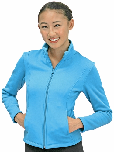 ChloeNoel Blue Textured Polar Fleece Jacket w/ Pockets