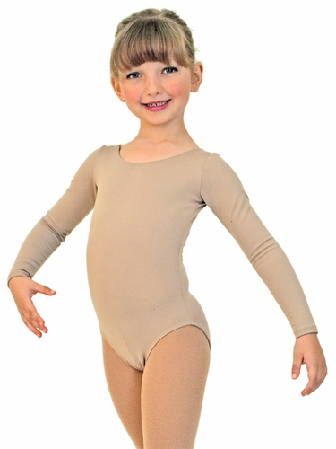 ChloeNoel Bodywear Nude Long Sleeve Leotard