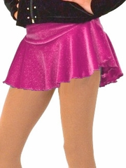 ChloeNoel Dark Pink Circle York Sparkle Velvet Skirt
