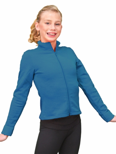 ChloeNoel Dark Turquoise Polar Fleece Fitted Jacket
